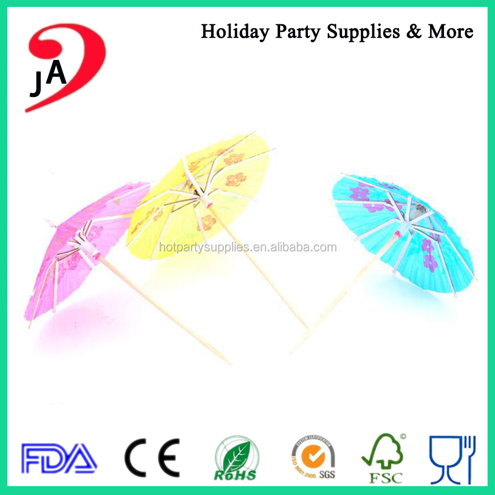 Party Decoration Cocktail Drink Umbrella Picks Food Parasol Sticks Supplier