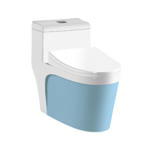 Modern Design Chaozhou Light Blue Ceramic Toilet Bowl