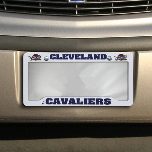 NBA Cleveland Cavaliers Plastic License Plate Frame - White