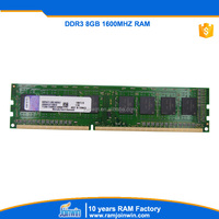 Valid for lifetime warranty desktop ram ddr3 pc 1600 8gb