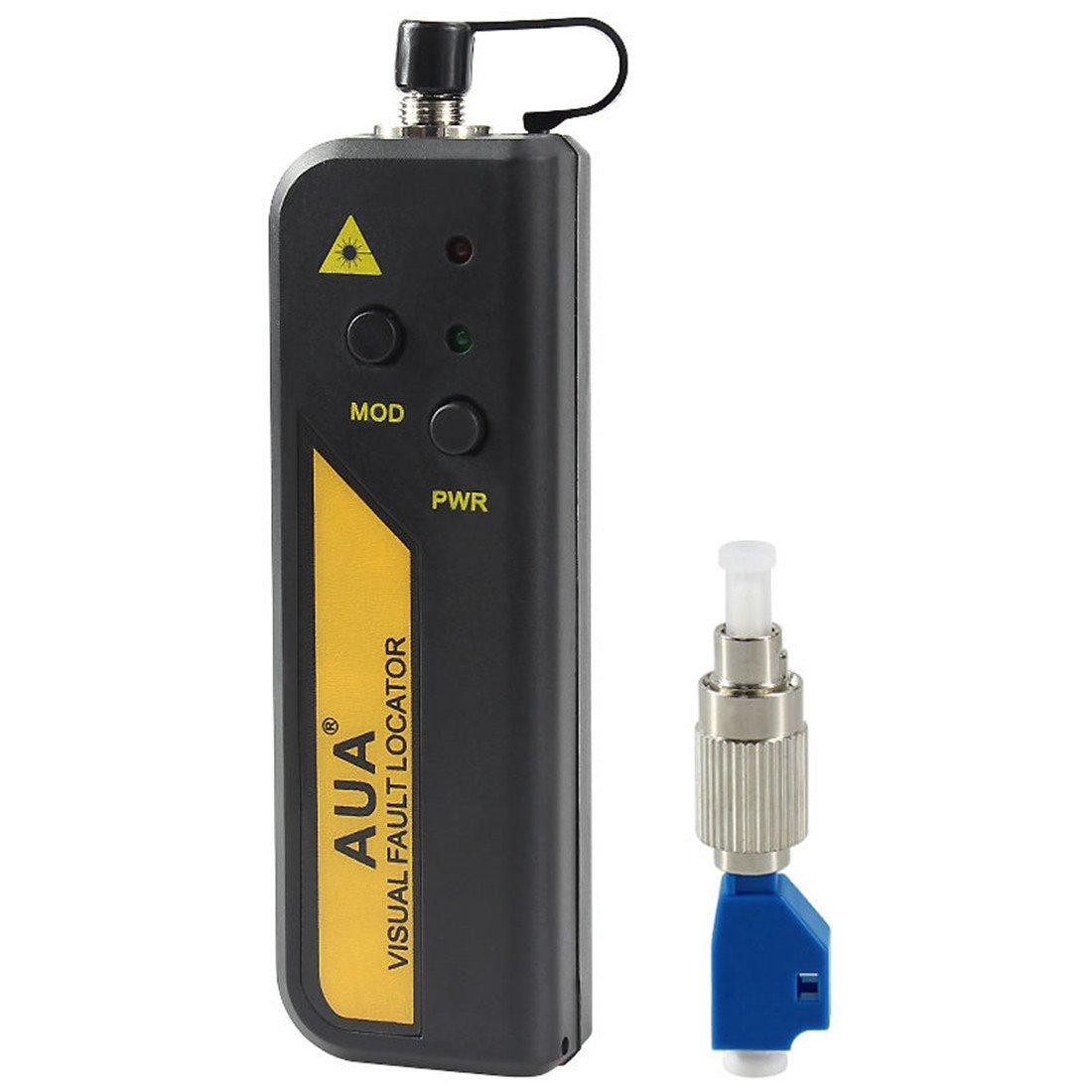 50mW 25-30Km Aluminium Alloy Visual Fault Locator Fiber Tester Detector Meter W//FC Male to LC Female Adaptor