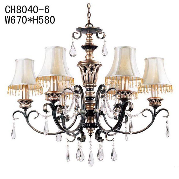 Antique Style Dining Room Chandeliers: European Style Garden Resin Crystal Chandelier Vintage