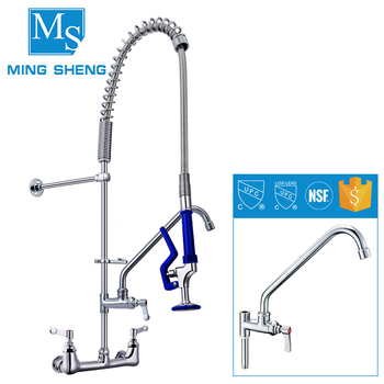 2017 New Wall Mounted Kitchen Pre Rinse Sink Mixer Taps Washing