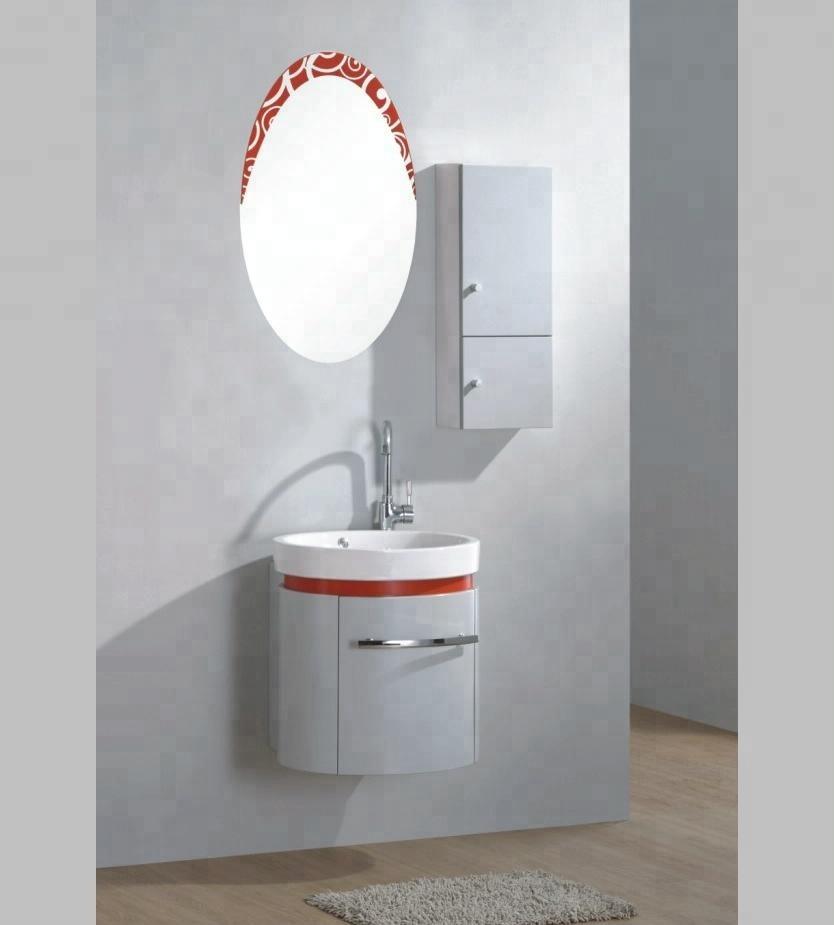Wall Hang Makeup Cabinet Round Mirror