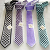 100% Polyester Micro Fiber Men's Check Design Positioning Necktie