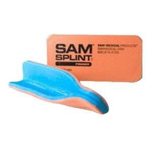 Sam Splint Finger Splint, Orange/Blue, 10/Pk [Pack of 10]