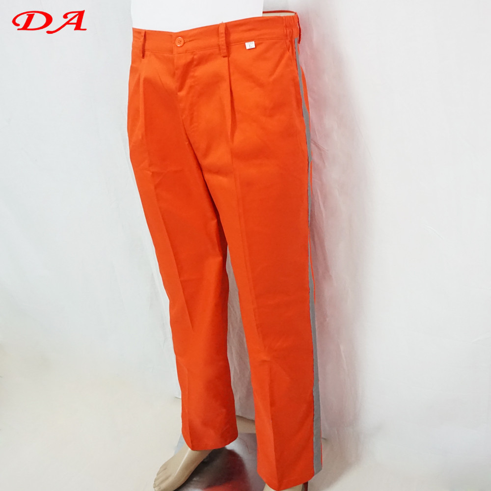 High Visibility Orange Safety Reflective Tape Work Pants