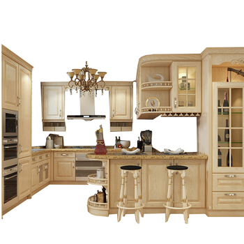 Custom design shaker solid wood kitchen cabinet doors
