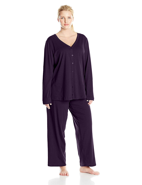 fa0aa6c7e8 Get Quotations · Jockey Women s Plus-Size Plus-Size Cotton Cardigan Pajama  Set
