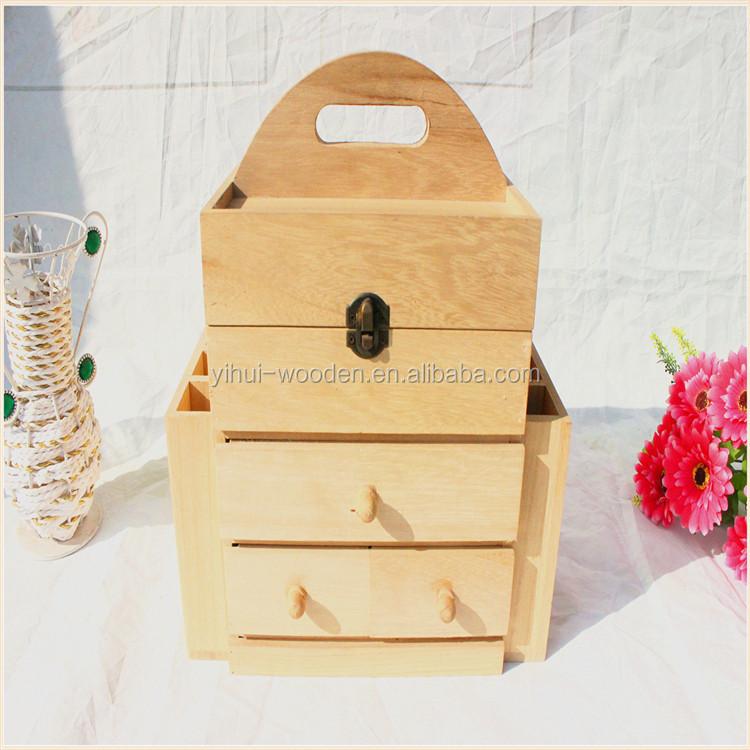 Cosmétique Emballage Bois/bambou Boîte Boîtes De Rangement Bambou ...