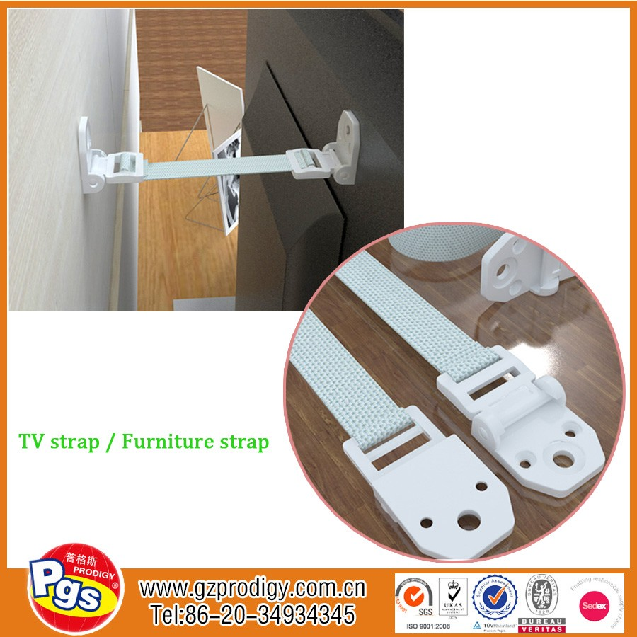 Premium Children Anti Tip Furniture Wall Straps, TV Strong Hold , Earthquake Childproof Safety, Easy to Install
