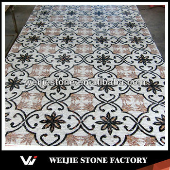 Wall And Floor Decorative Stone Mosaic Tile Medallion Colorful Vinyl Flooring