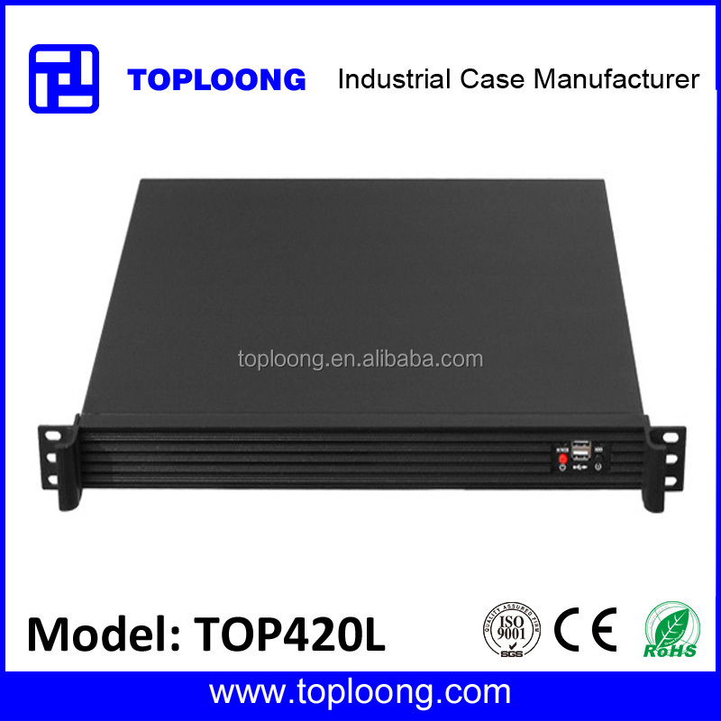 TOP1U420L 1U 19inch ATX rackmount server chassis pc case with Aluminum front panel
