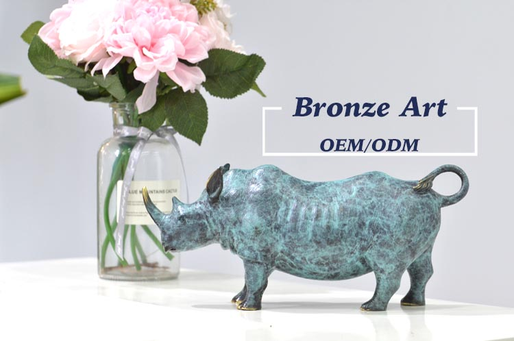 Antique Gold Cast Oem Cheap Small 3D Metal Home Decor Set Custom Bronze Animal One Piece Figurines