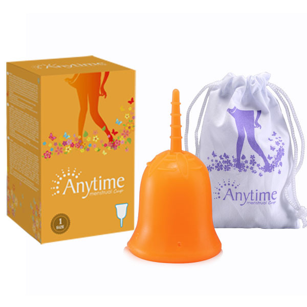 GAMC02 New Brand Anytime International Brand Soft Menstrual Silicone Period Cup Large Size and S Size for Feminine Hygiene