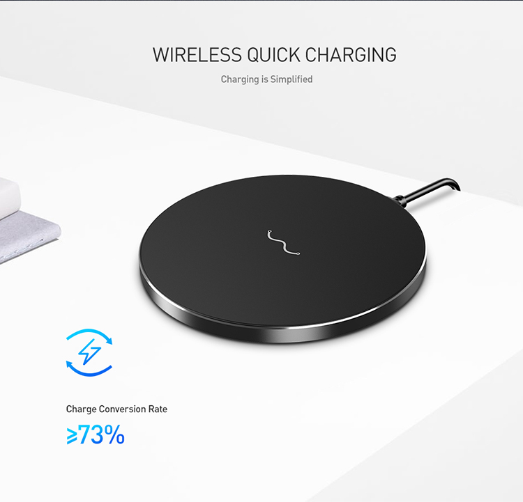 Free Shipping FLOVEM Ultra Thin Small MINI Intelligent Fast Charging Wireless Mobile Phone Charger for iPhone and Samsung