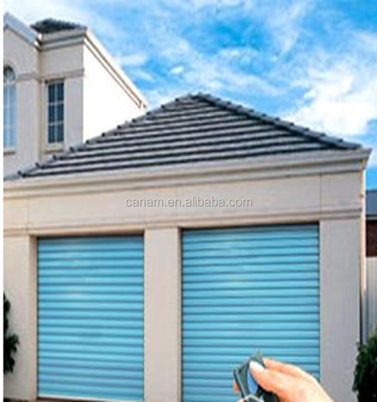 China cheap aluminum automatic roll up garage door