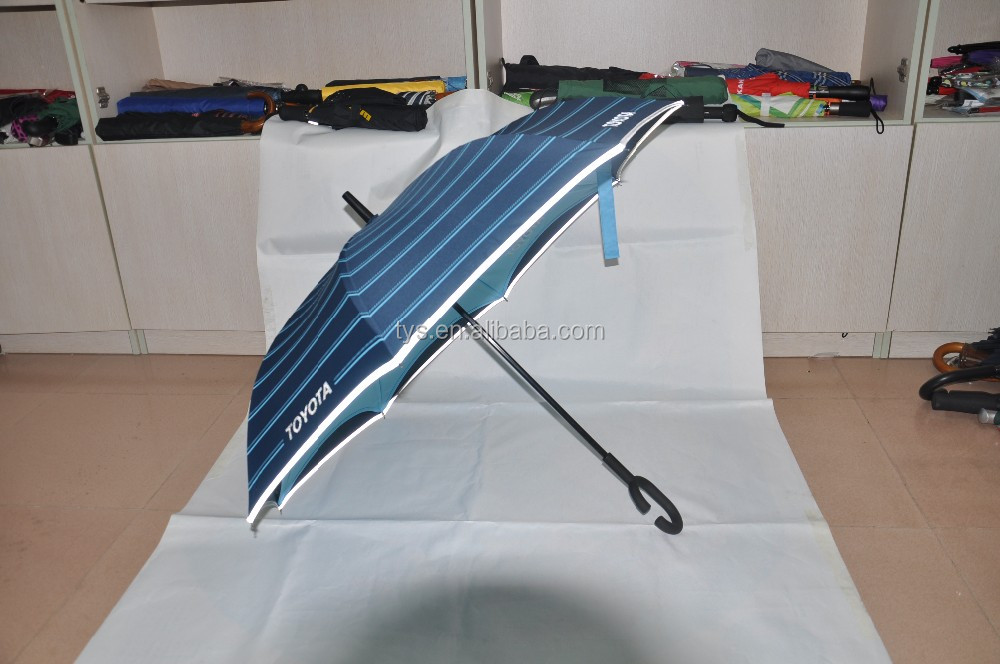 2016 hot selling new fashion upside-down reverse inverted umbrella