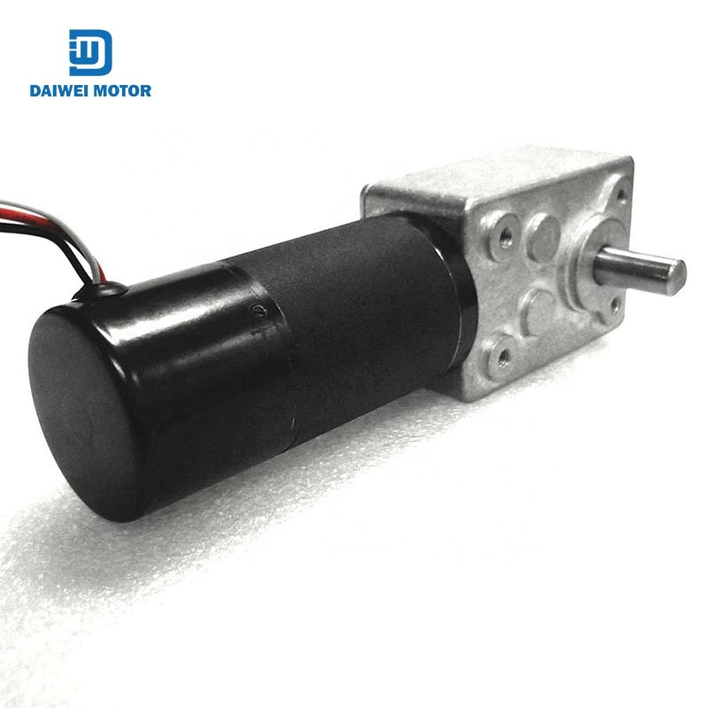 factory direct sales drip-proof brushless dc worm gear motor 24v double shaft apply to boat
