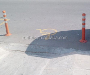 Road Traffic Lane 75 cm PU Flexible Barrier Post for Safety