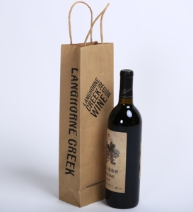 Kraft Paper Handle Bag Win bottle Bag Customize your own Logo twisted handle