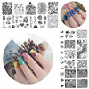 Hot sale flower and lace designs DIY Nail art Stamping Plates With 20 Different patterns choice