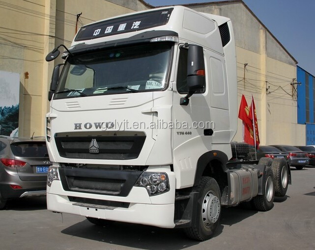 6x4Sinotruk HOWO T7H Tractor Truck Head 440HP for sale