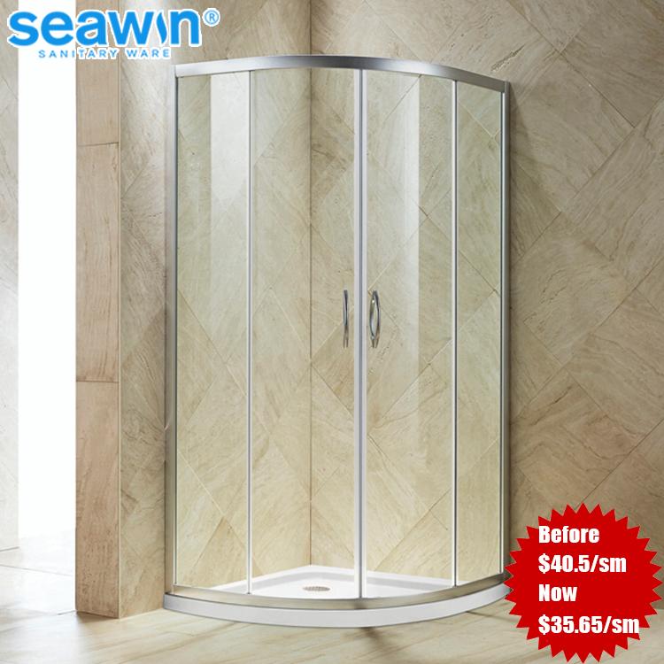 Portable Sector Frameless Tempered Glass 870*870mm Dubai Pivot Hinge Shower  Screens - Buy Shower Screens,Dubai Shower Screens,Portable Shower Screens