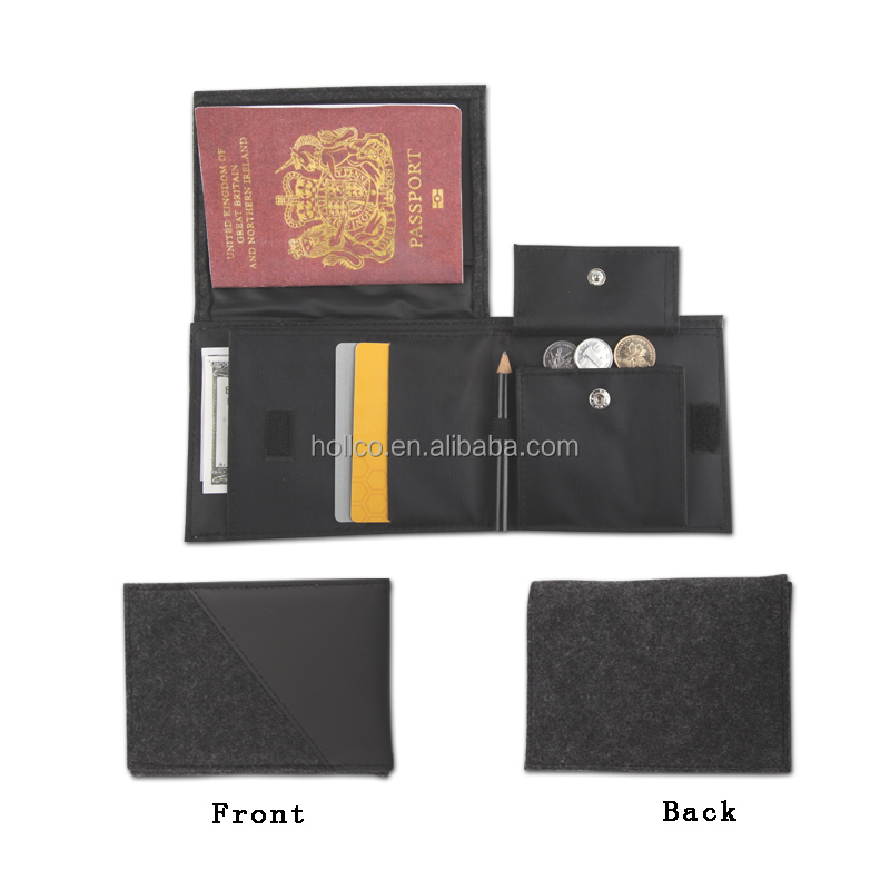 New item Fashion PVC bifold Passport Ticket wallet
