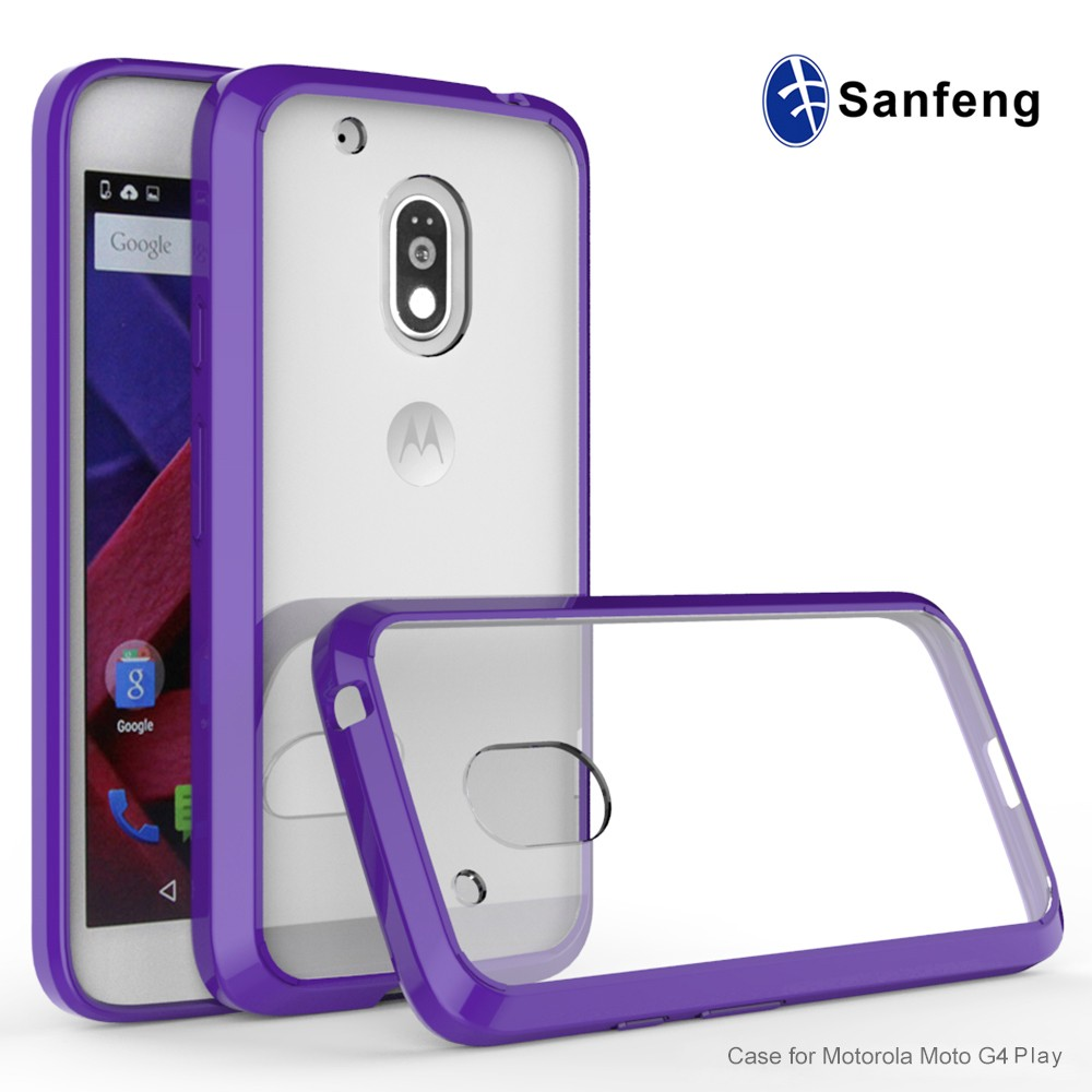 67347ae029d hard plastic injection molded for crystal phone case for Motorola G Play  back cover