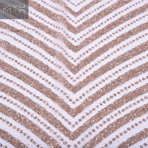 Custom made sequin fabric for bride dress fabric for wedding dress decoration