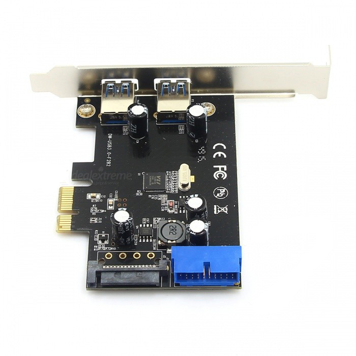 PCI-E to USB 3.0 19/20 Pin Bus-Powered Extension Card
