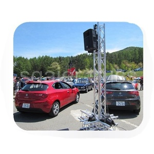 aluminum entertainment truss stand,concert stage roof display speaker array line speaker truss