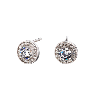 Wholesale AAA Zircon 925 Sterling Silver Stud Earring