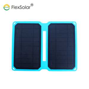 factory direct custom rohs manual 10w folding portable solar charger for cell phone