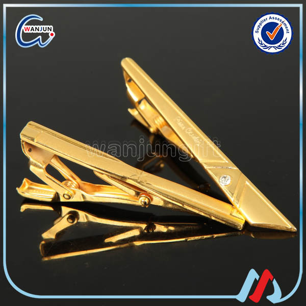 sedex 4p zhongshan wholesale blank gold clip on tie clip hardware