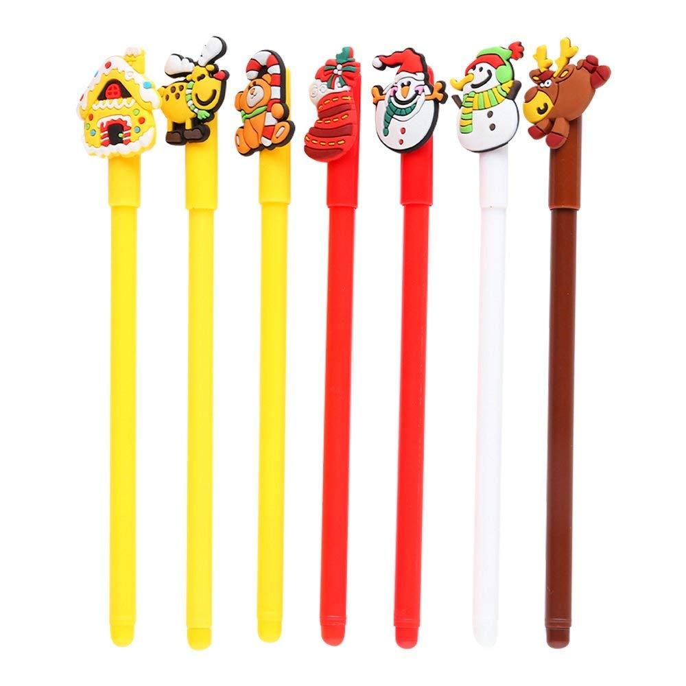 "Baidercor 7"" Cute Christmas Gift Gel Pens Set of 7"