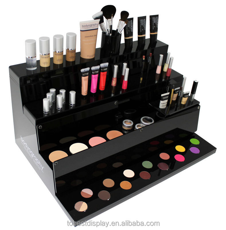 Exhibition Stand Cosmetics : Acrylic mac makeup display stand cosmetic