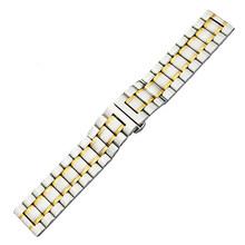 Нержавеющая сталь Смотреть Band 20 мм 22 для Rolex ремешок с застежкой-бабочкой наручные петли ремня браслет black rose цвета: золотистый, серебристый +...(Китай)