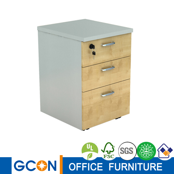 Modern B/B/F three drawers wooden office pedestal