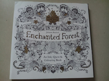 enchanted forest adult custom coloring book printing paper - Coloring Book Paper Type