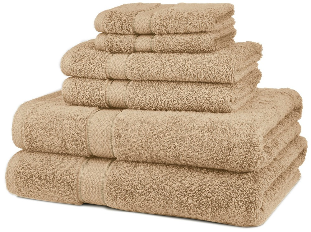 China Factory Supply Solid Color 100% Cotton Hotel Bath Towel Set