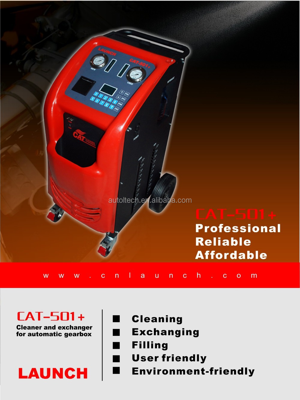 Cat-501+ Can Torque Converter And Radiator Launch Cat-501+ Auto  Transmission Flush Machine - Buy Launch Cat-501+,Cleans Automatic  Transmission,Auto