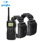 Yonghe Chinese factory tops pet products 1000 m remote hunting dog training collar for 2 dogs