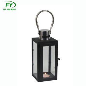 Custom Product Modern Outdoor Festival Garden Decoration Iron Stainless Steel Metal Candle Holder Lantern