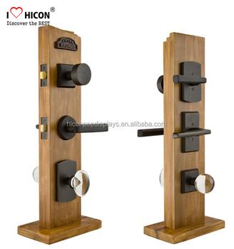 Superb Understand Clients Merchandising Needs Hardware Shop Door Handle Custom  Solid Wood Retail Door Lock Display Stands
