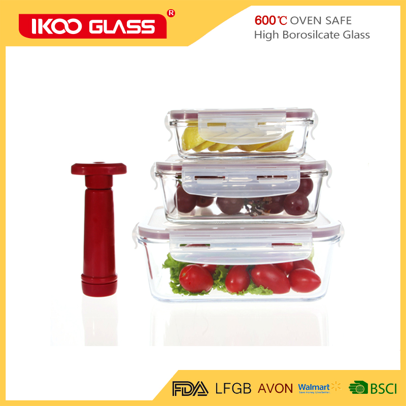 2017 new product glass meal prep containers with TPR lids