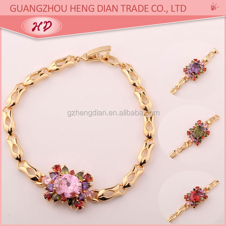 Factory Wholesale india gold plated ladies bracelet models, View ...