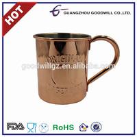 High quality stainless steel coffee mug plated