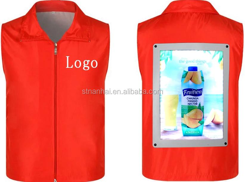 J1-0016 Good quality LED backpack illuminated exhibition advertising Walking Boards